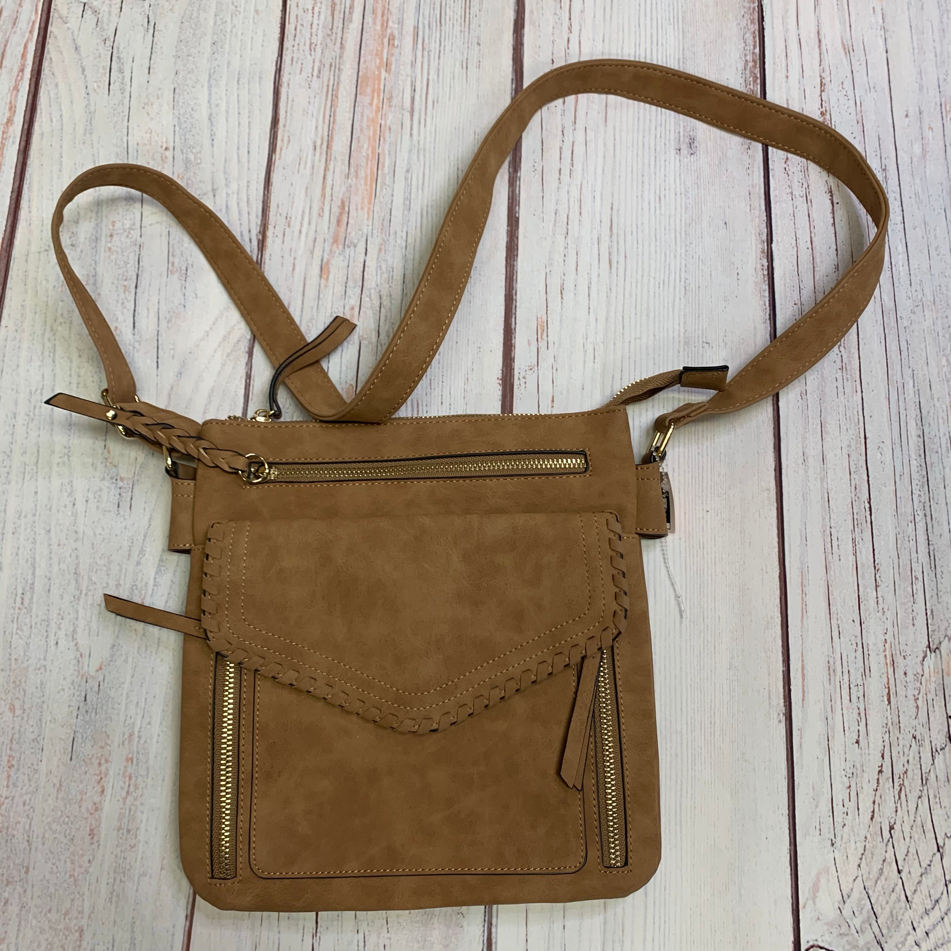 Primary Photo - BRAND: ALTARD STATE <BR>STYLE: HANDBAG LEATHER <BR>COLOR: TAN <BR>SIZE: MEDIUM <BR>OTHER INFO: XBODY <BR>SKU: 257-257100-1005