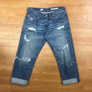 Primary Photo - BRAND: ADRIANO GOLDSCHMIED STYLE: JEANS DESIGNER COLOR: DENIM SIZE: 26 OTHER INFO: EX-BF CROP DISTRESSED SKU: 257-257183-425