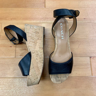 Primary Photo - BRAND: COACH STYLE: SANDALS HIGH COLOR: BLACK SIZE: 6 OTHER INFO: CORK WEDGES SKU: 257-25786-2660
