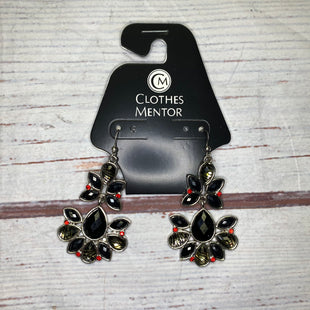 Primary Photo - BRAND:    CLOTHES MENTOR STYLE: EARRINGS COLOR: BLACK OTHER INFO: BLACK W/ ANIMAL PRINT STONES SKU: 257-257100-1761