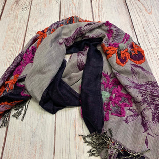 Primary Photo - BRAND: REBECCA MINKOFF STYLE: SCARF WINTER COLOR: NAVY OTHER INFO: EMBROIDERED FLOWERS SKU: 257-257194-227