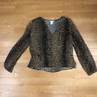 Primary Photo - BRAND: H&M STYLE: TOP LONG SLEEVE COLOR: ANIMAL PRINT SIZE: M OTHER INFO: BROWN AND BLACK SKU: 257-25774-12364