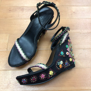Primary Photo - BRAND: SAM EDELMAN STYLE: SANDALS HIGH COLOR: PRINT SIZE: 7.5 OTHER INFO: BUTTON/EMBROIDERY DETAILS SKU: 257-25786-4395