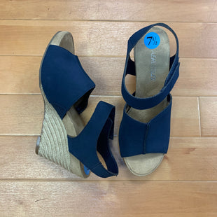 Primary Photo - BRAND: AEROSOLES STYLE: SANDALS HIGH COLOR: NAVY SIZE: 7.5 OTHER INFO: NEW! WOVEN WEDGE SKU: 257-25786-4091