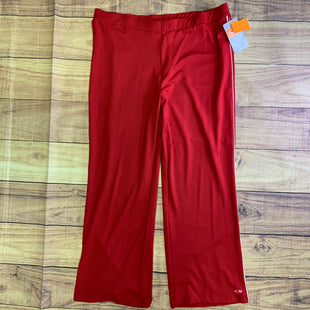 Primary Photo - BRAND: CHAMPION STYLE: ATHLETIC PANTS COLOR: RED SIZE: XL OTHER INFO: ZIPPER FRONT, WHITE STRIPES SKU: 257-257103-509