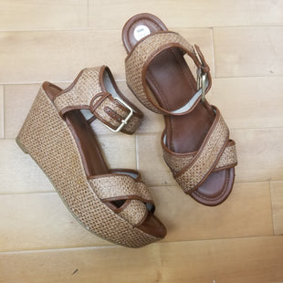 Primary Photo - BRAND: MRKTSTYLE: SANDALS HIGH COLOR: BROWN SIZE: 7.5 OTHER INFO: MRKT - DARK STRAW SKU: 257-25786-4125