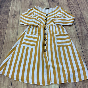 Primary Photo - BRAND: SHEIN STYLE: DRESS SHORT LONG SLEEVE COLOR: STRIPED SIZE: XS OTHER INFO: MUSTARD AND WHIT STRIPES SKU: 257-257194-1947