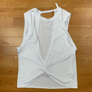Primary Photo - BRAND: FABLETICS STYLE: ATHLETIC TANK TOP COLOR: WHITE SIZE: M OTHER INFO: KNOT DETAIL BACK SKU: 257-257183-1729