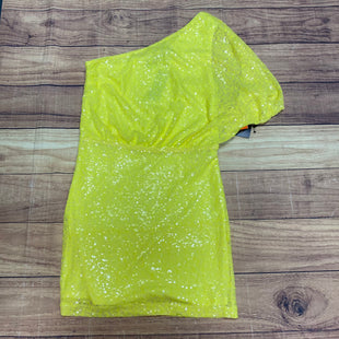 Primary Photo - BRAND: NEW YORK AND CO STYLE: DRESS SHORT LONG SLEEVE COLOR: NEON SIZE: M OTHER INFO: NEON YELLOW; SPARKLY; NWT SKU: 257-257194-2120