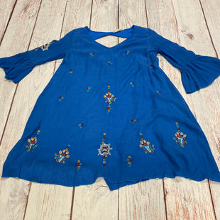 Primary Photo - BRAND: REBELLIONSTYLE: DRESS SHORT LONG SLEEVE COLOR: BLUE SIZE: M OTHER INFO: EMBROIDERED SKU: 257-25750-597