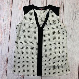 Primary Photo - BRAND: VINCE CAMUTO STYLE: TOP SLEEVELESS COLOR: POLKADOT SIZE: XS OTHER INFO: BLACK DOTS ON WHITE SKU: 257-257194-373