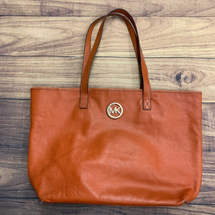 Primary Photo - BRAND: MICHAEL BY MICHAEL KORS STYLE: HANDBAG DESIGNER COLOR: ORANGE SIZE: LARGE OTHER INFO: LEATHER TOTE-STAINING/WEAR SKU: 257-25786-5688