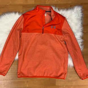 Primary Photo - BRAND: UNDER ARMOUR STYLE: ATHLETIC JACKET COLOR: ORANGE SIZE: M OTHER INFO: COLDGEAR/NYLON BREAST/FLEECE BOTTOM SKU: 257-257100-193