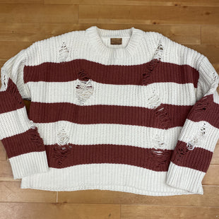 Primary Photo - BRAND: POL STYLE: SWEATER HEAVYWEIGHT COLOR: STRIPED SIZE: L OTHER INFO: BURGUNDY/CREAM SKU: 178-178131-968R