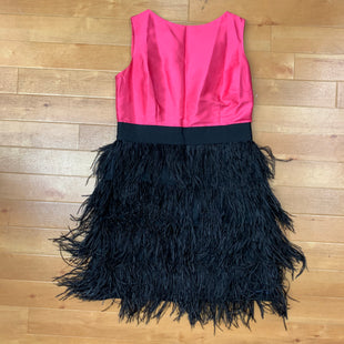 Primary Photo - BRAND:    SAIL TO SABLESTYLE: DRESS SHORT SLEEVELESS COLOR: PINK SIZE: M OTHER INFO: SAIL TO SABLE - W/BLACK FEATHERS SKU: 257-257180-1649