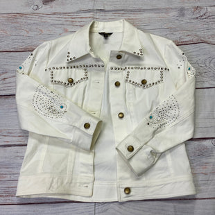 Primary Photo - BRAND:    CLOTHES MENTOR STYLE: BLAZER JACKET COLOR: WHITE SIZE: S OTHER INFO: CHRISTINE PHILLIPE - STUDDED SKU: 257-257100-1791