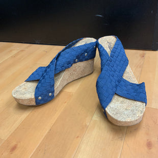 Primary Photo - BRAND: LUCKY BRAND STYLE: SANDALS HIGH COLOR: BLUE SIZE: 11 OTHER INFO: CORK SKU: 257-25774-12461