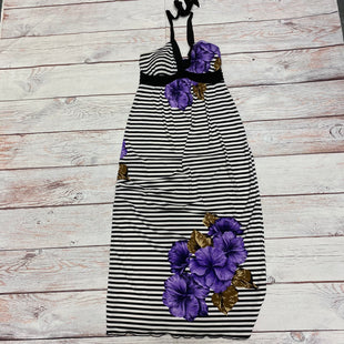 Primary Photo - BRAND: CAROLE LITTLE STYLE: DRESS LONG SLEEVELESS COLOR: BLACK WHITE SIZE: S OTHER INFO: PURPLE FLOWER SKU: 257-25774-12353