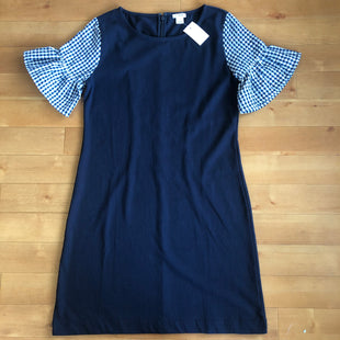 Primary Photo - BRAND: J CREW STYLE: DRESS SHORT SHORT SLEEVE COLOR: NAVY SIZE: XS OTHER INFO: NEW! GINGHAM SLEEVES SKU: 257-25781-3391