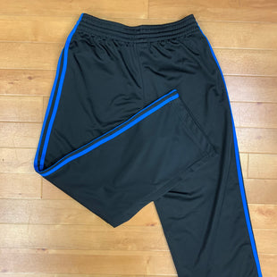 Athletic Pants By Adidas  Size: M - BRAND: ADIDAS STYLE: ATHLETIC PANTS COLOR: BLACK SIZE: M OTHER INFO: BLUE LINES SKU: 257-257100-1164