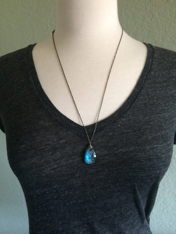Large Labradorite Briolette Necklace