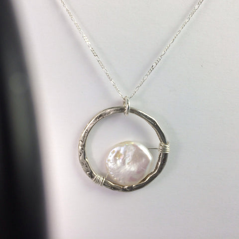 Round Shining Moon Necklace