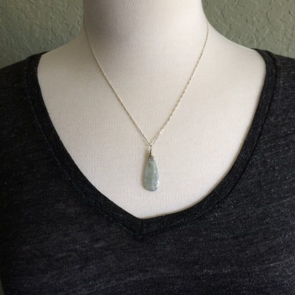 Stunning Kyanite Drop Necklace