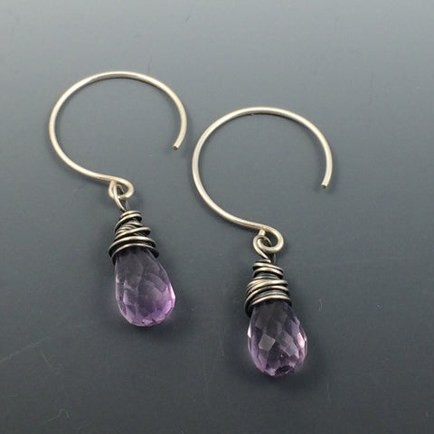 Amethyst Wire Wrapped with Sterling Silver