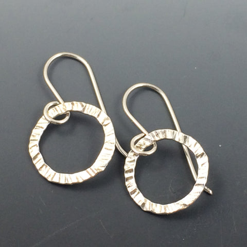Fine Silver Circle Earrings