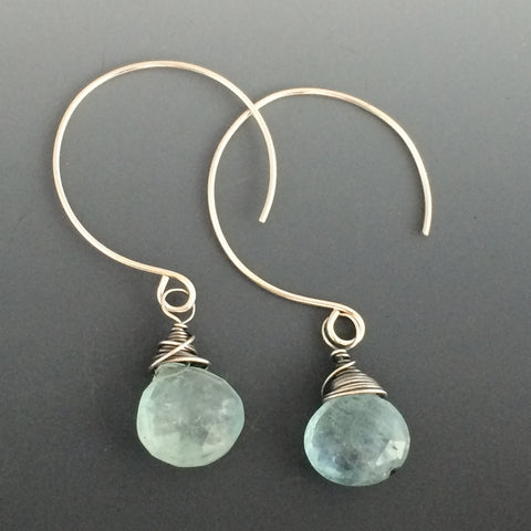 Aquamarine with Sterling Silver Earrings