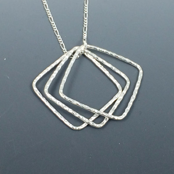 Sterling Silver Square Necklace
