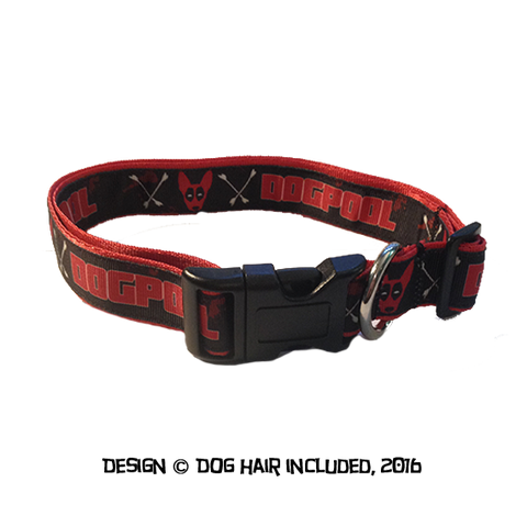 Dogpool-inspired clip collar