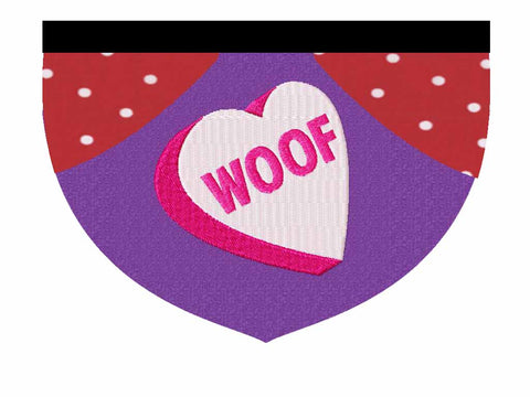 "Conversation Heart ""Woof"""