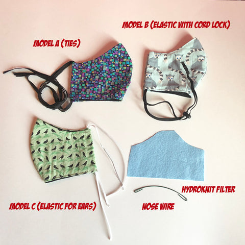 Model C masks (ear elastics)