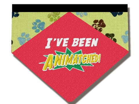 """I've been Animatched!"" - reversible embroidered bandana"