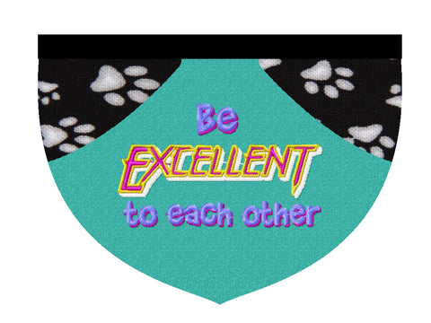 Be excellent! reversible pet bandana