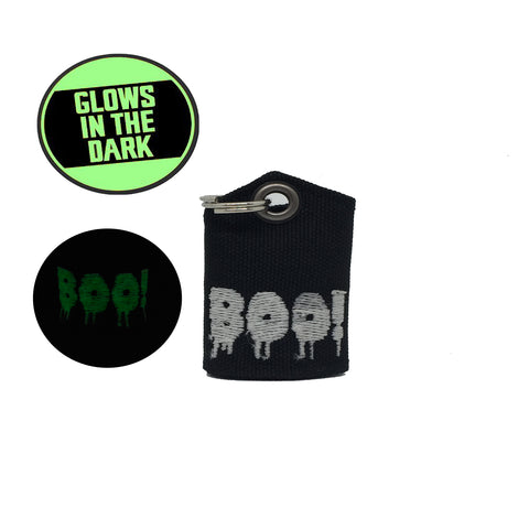 "BOO! Glow-in-the-dark ""Tag Bag"" medal protector and silencer"