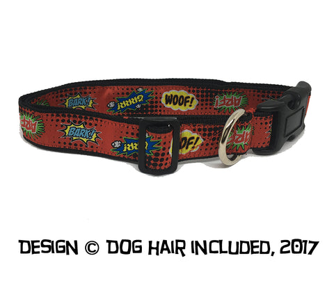 Comic Pup clip collar