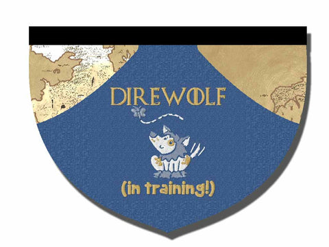 Direwolf in training reversible bandana
