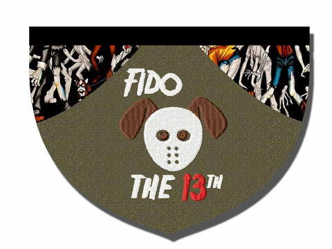 Fido the 13th reversible bandana