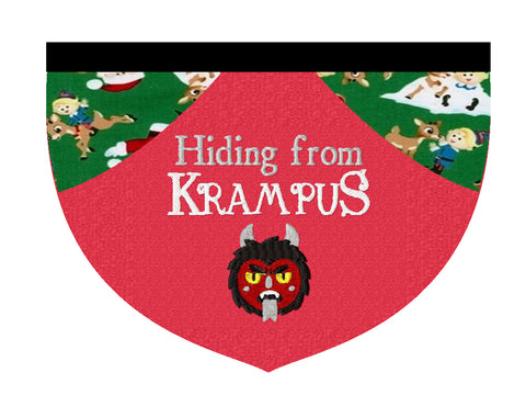 Hiding from Krampus reversible bandana