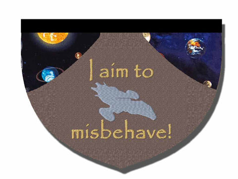 I aim to misbehave reversible bandana