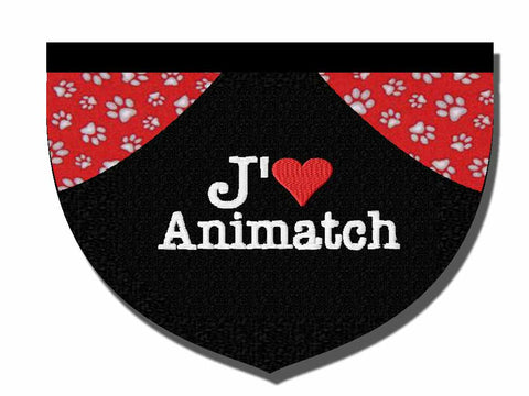 """I love Animatch""/""J'aime Animatch"" - reversible embroidered bandana"
