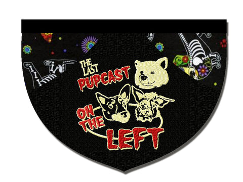 Last Pupcast on the Left reversible bandana