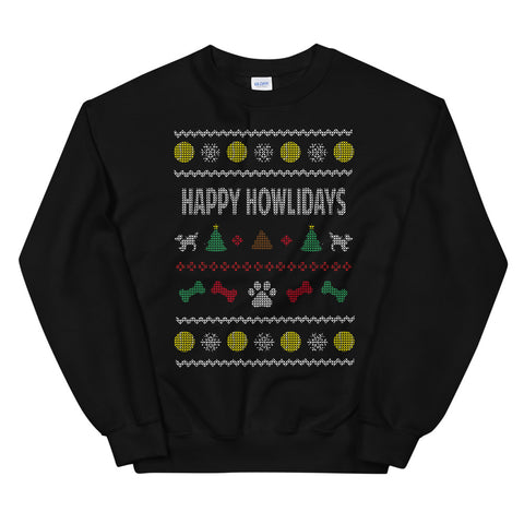 Happy Howlidays Ugly Christmas Sweater sweatshirt