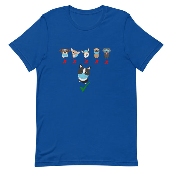 Mask up doggies Short-Sleeve Unisex T-Shirt