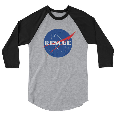 Rescues in Space 3/4 sleeve raglan shirt