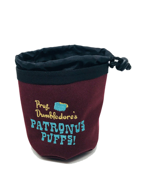 Patronus Puffs treat pouch and water bowl