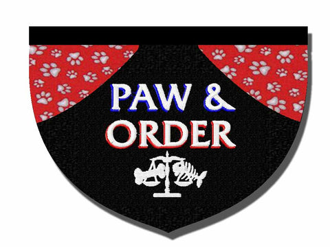 Paw and Order-inspired bandana