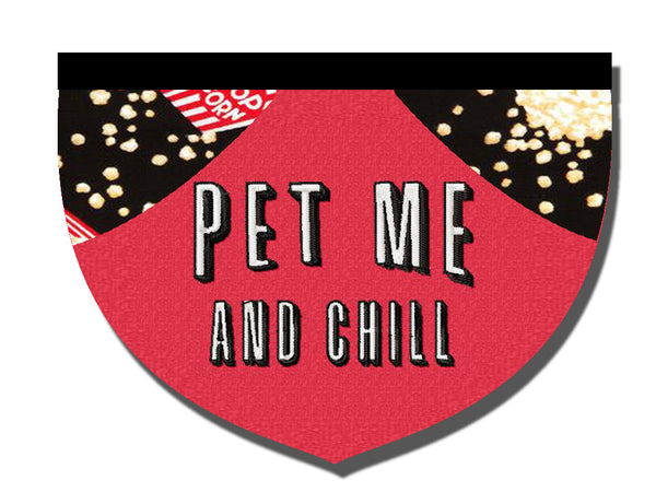 Pet me and chill - reversible pet bandana